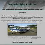 Image of peninsula flying club website